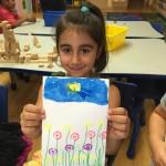 Fun art activity at Sherman Oaks preschool