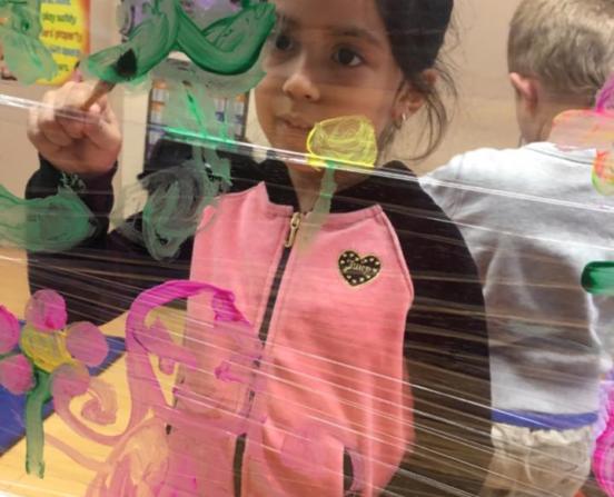 Preschool Art Lesson at Sherman Oaks
